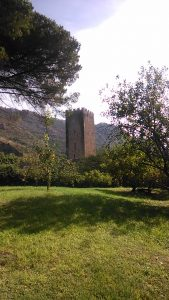 Tower at Garden of Ninfa